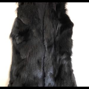 Adorable black fur vest size medium